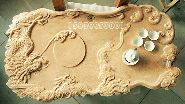 雕刻石桌茶台